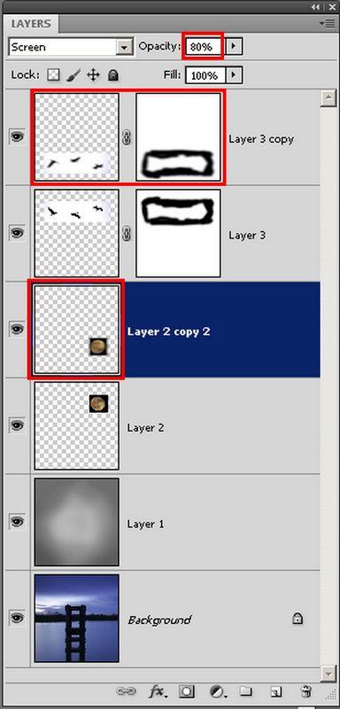 Warstwy w fotomontażu