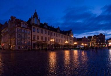 Wrocław nocą, balans bieli