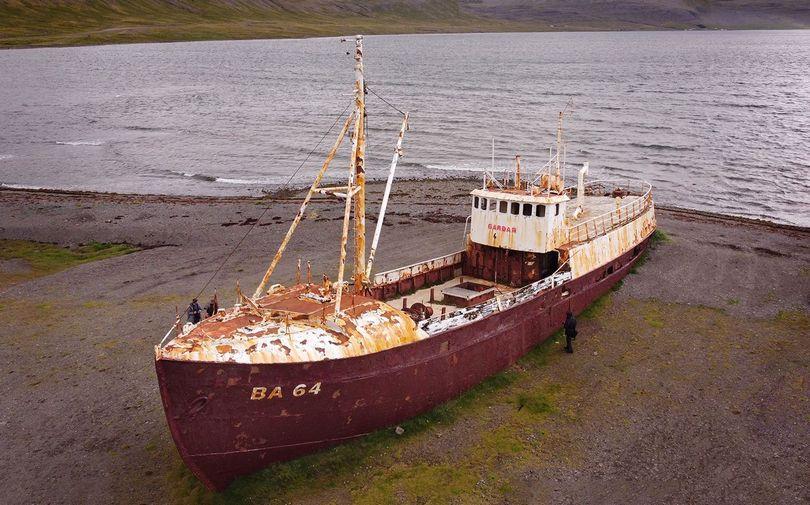Dron na Islandii - przepisy prawne, wrak statku BA64