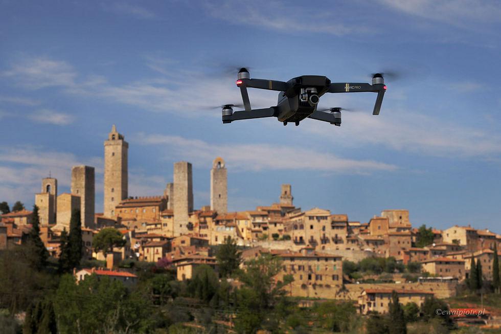 Jak latać dronem za granicą - Włochy - Toskania