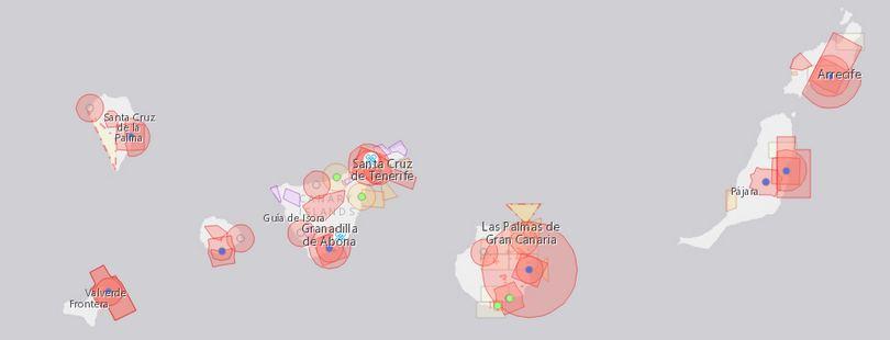 Latanie dronem za granicą - Wyspy Kanarysjkie, mapa stref zakazanych